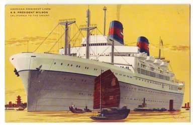 APLの客船プレジデントウィルソン