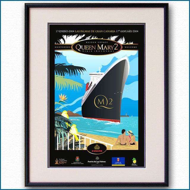 2004年 MAIDEN VOYAGE クイーンメリー2のポスター 2004LL