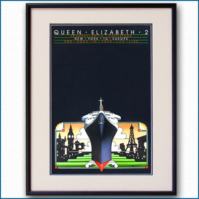 1983年 キュナード クイーンエリザベス2のポスター 2020LL