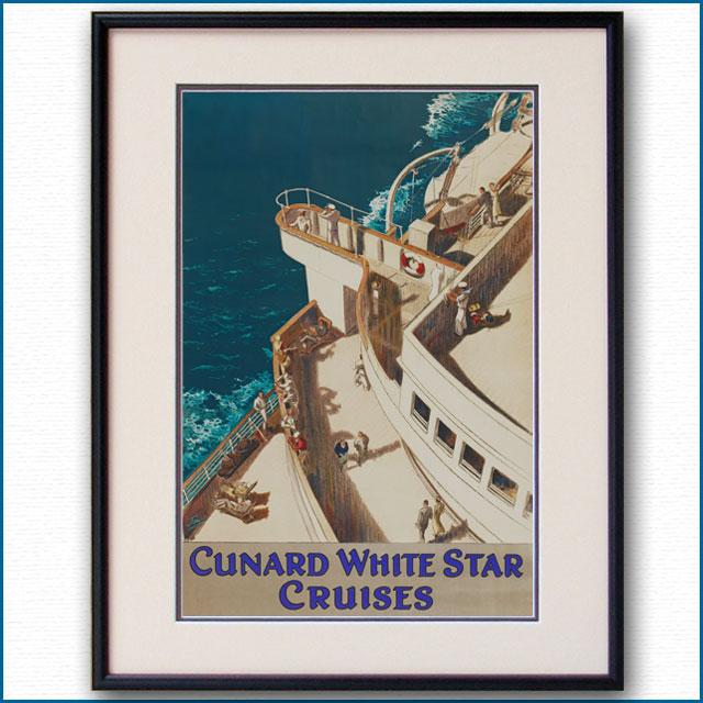 1938年 ジャービス 客船モーレタニアのポスター 2046LL