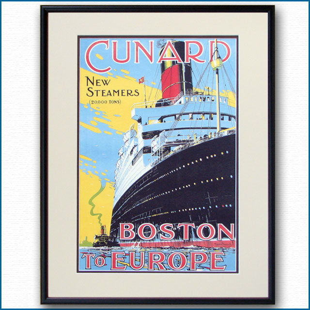 キュナードライン CUNARD BOSTON TO EUROPE:四方海話 巻弐:ポスター販売・Ocean-Note