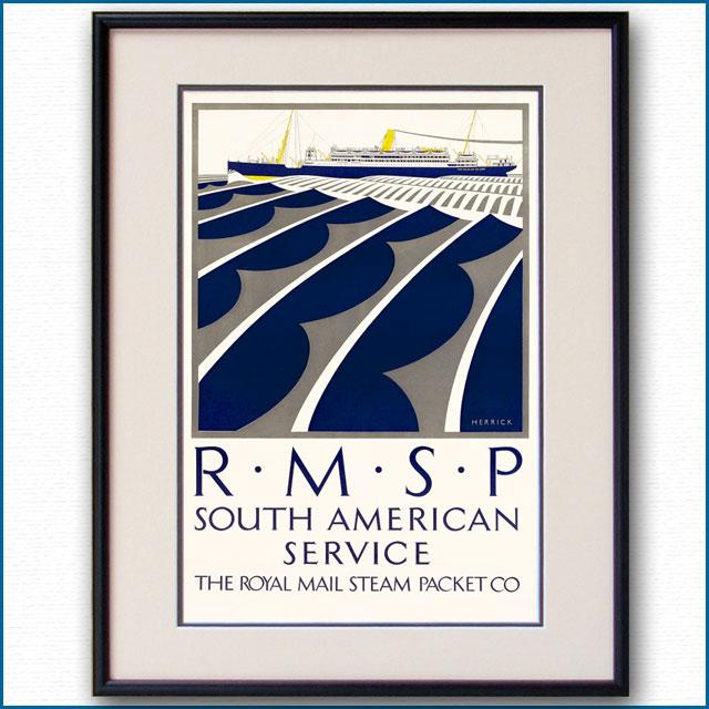 1921年 RMSPロイヤルメールラインのポスター 2317LL