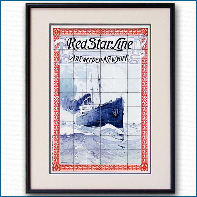 1901年 アンリ・カシエ レッドスターラインのポスター 2379LL