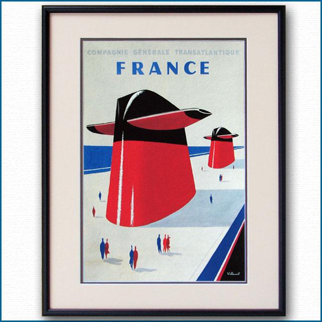 1962年 ベルナール・ヴィユモ 客船フランスのポスター 2398LL