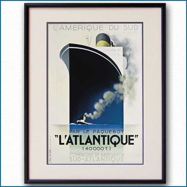 1932年 カッサンドル 客船アトランティックのポスター 2410LL