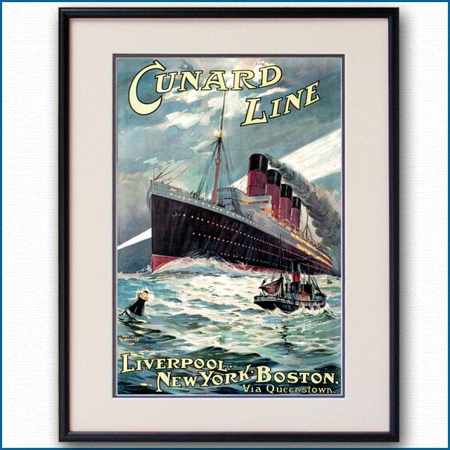 1910年 オーディン・ローセンヴィング 客船モーレタニアのポスター 2587LL