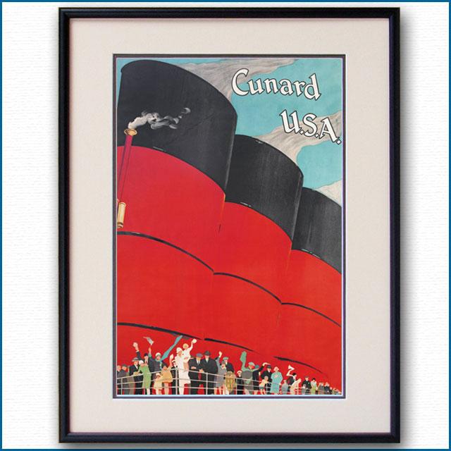1926年 キュナードラインのポスター 2589LL