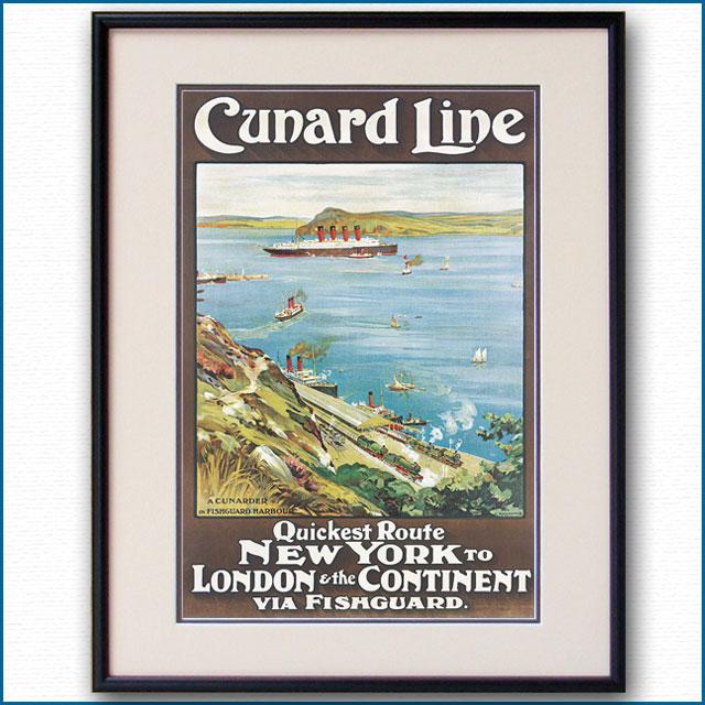 1909年 オーディン・ローセンヴィング キュナードラインのポスター 2598LL