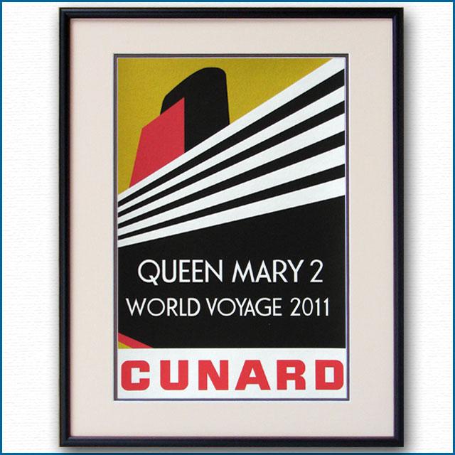 2011年 キュナード クイーンメリー2のポスター 2605LL