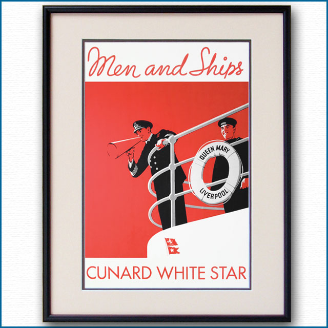 1936年 クイーンメリーのポスター 2621LL
