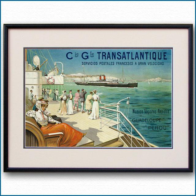 1908年 CGTフレンチラインのポスター 2661LL