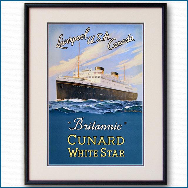 1935年 サミュエル・ブラウン 客船ブリタニックのポスター 2690LL