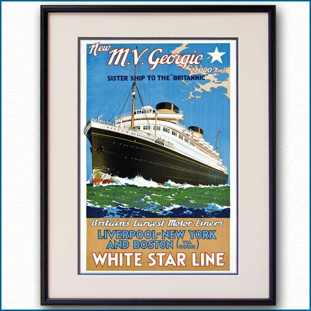 1931年 ウォルター・トーマス 客船ジョージックのポスター 2779LL