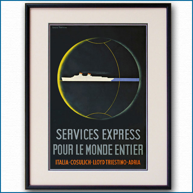 1935年 ルーチョ・フォンタナ 客船レックスのポスター 2822LL