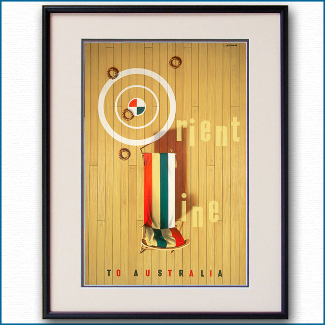 1951年 アブラム・ゲームズ オリエントラインのポスター 2910LL