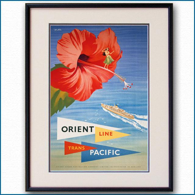 1954年 ダール・コリングス オリエントラインのポスター 2911LL