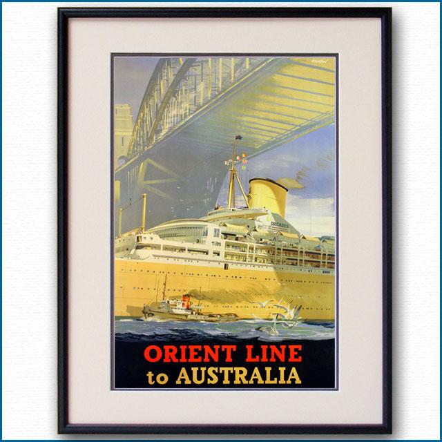 1948年 オリエントライン 客船オーカデスのポスター 2918LL