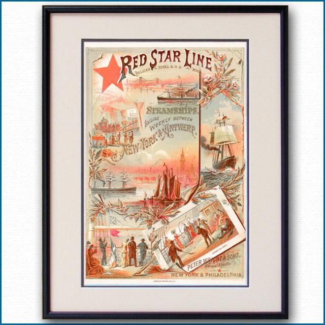 1890年 レッドスターラインのポスター 2949LL