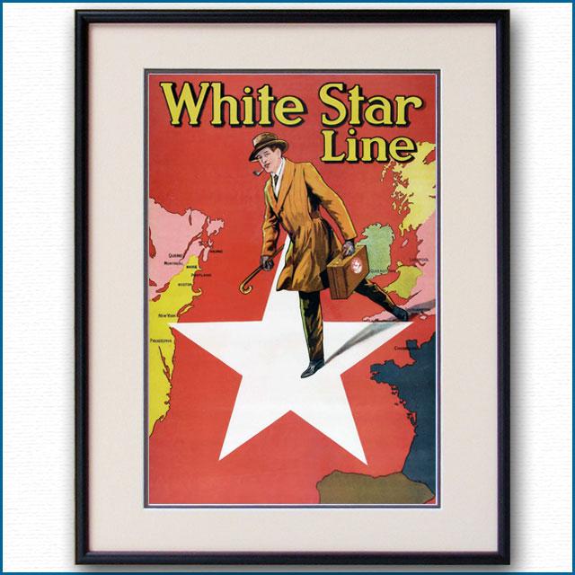 1911年 ホワイトスターラインのポスター 2951LL