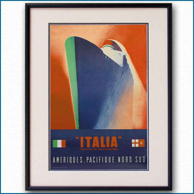 1948年 パトローネ イタリアンラインのポスター 2954LL