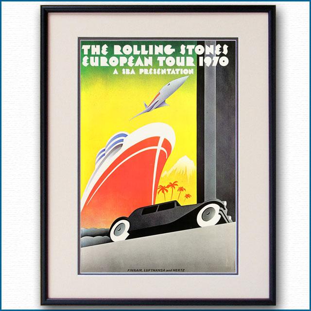 1970年 ローリングストーンズ欧州ツアーのポスター 2955LL