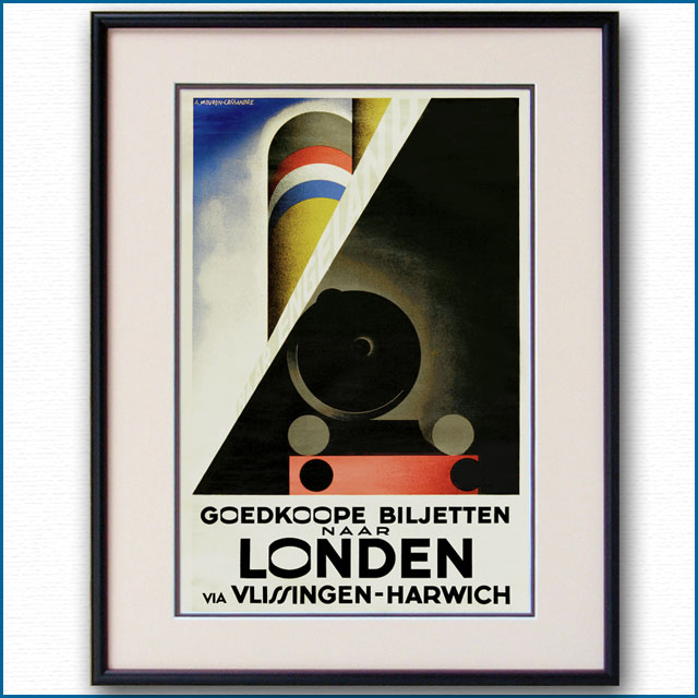 1928年 カッサンドル 英仏海峡連絡のポスター 2967LL