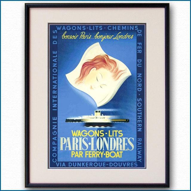 1936年 ロンドン・パリ ワゴン・リのポスター 2969LL