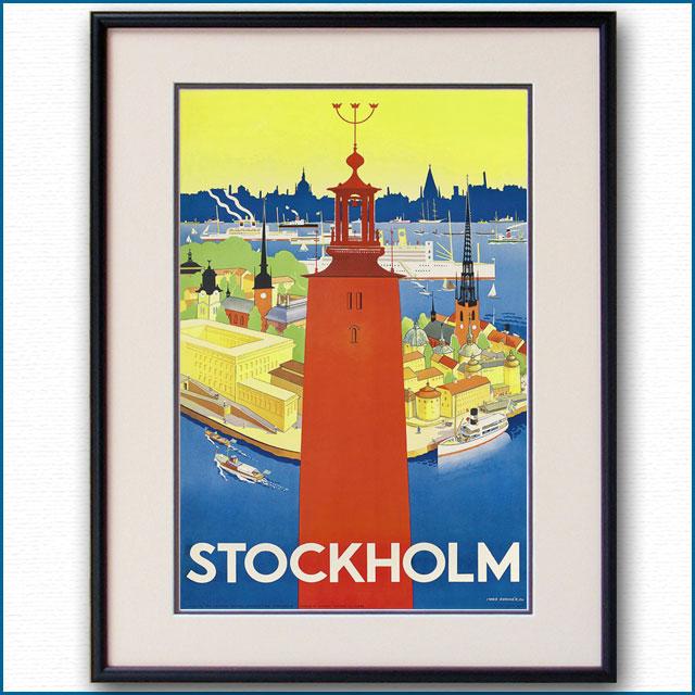 1936年 ストックホルムのポスター 2978LL