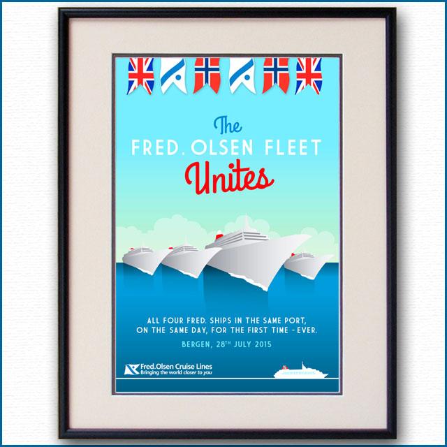 2015年 フレッドオルソンクルーズラインのポスター 2984LL