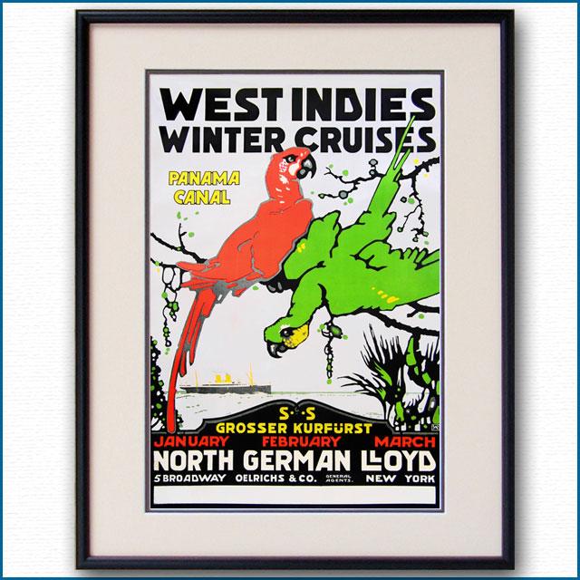 1913年 北ドイツロイド ウィンタークルーズのポスター 2988LL