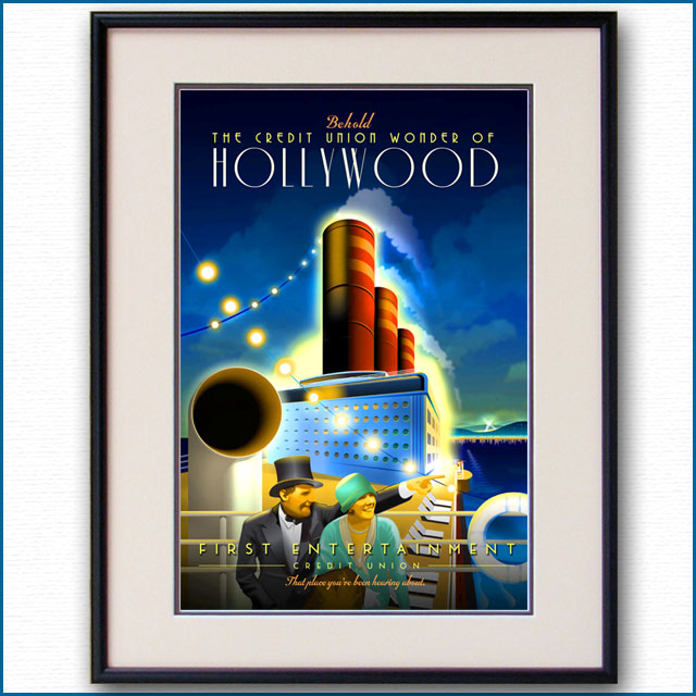 2013年 ハリウッドの客船ポスター 2993LL