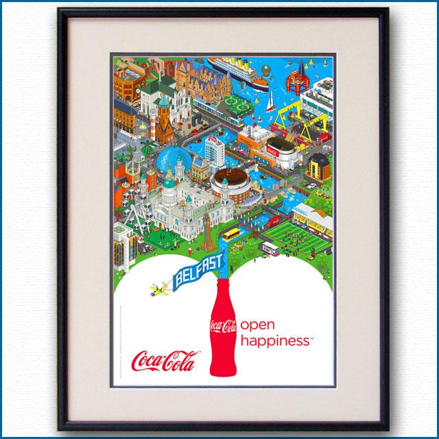 2009年 オープンハピネス コカコーラのポスター 2998LL