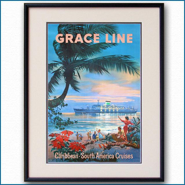 1957年 グレースラインのポスター 3007LL