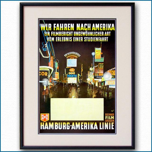 1930年 アルベルト・ファス ハンブルクアメリカラインのポスター 3011LL