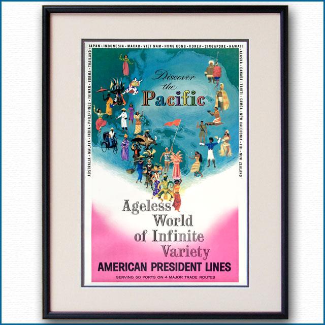 1958年 APL・アメリカンプレジデントラインズのポスター 3015LL