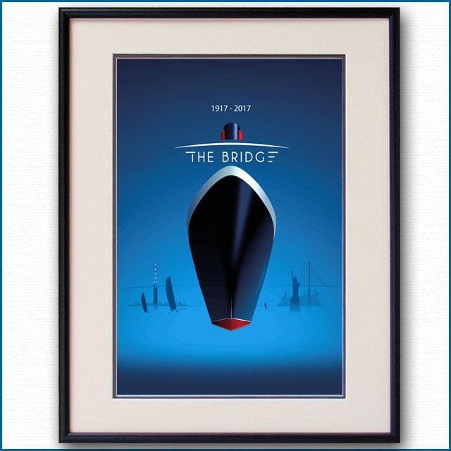 2017年 クイーンメリー2 ザ・ブリッジのポスター 3029LL