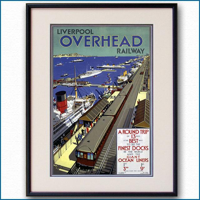 1925年 リバプール高架鉄道のポスター 3030LL