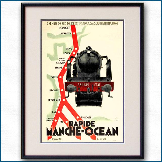 1930年 フランス地方鉄道・英国サザン鉄道のポスター 3051LL