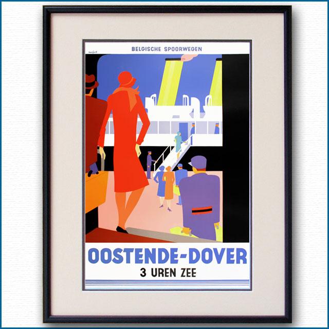 1928年 レオ・マルフルト 英仏海峡連絡船のポスター 3052LL