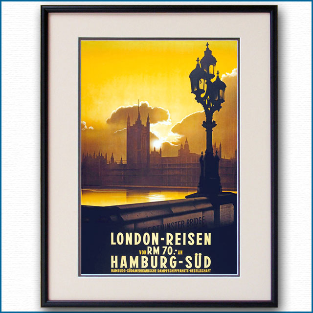 1930年 ハンブルク・サド ロンドンのポスター 3058LL