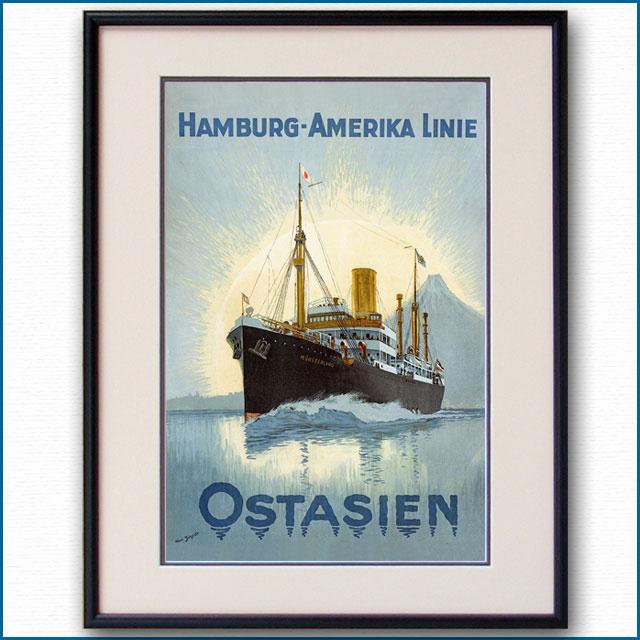 1922年 ハンブルク・アメリカラインのポスター 3063LL