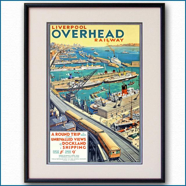 1926年 リバプール高架鉄道のポスター 3068LL