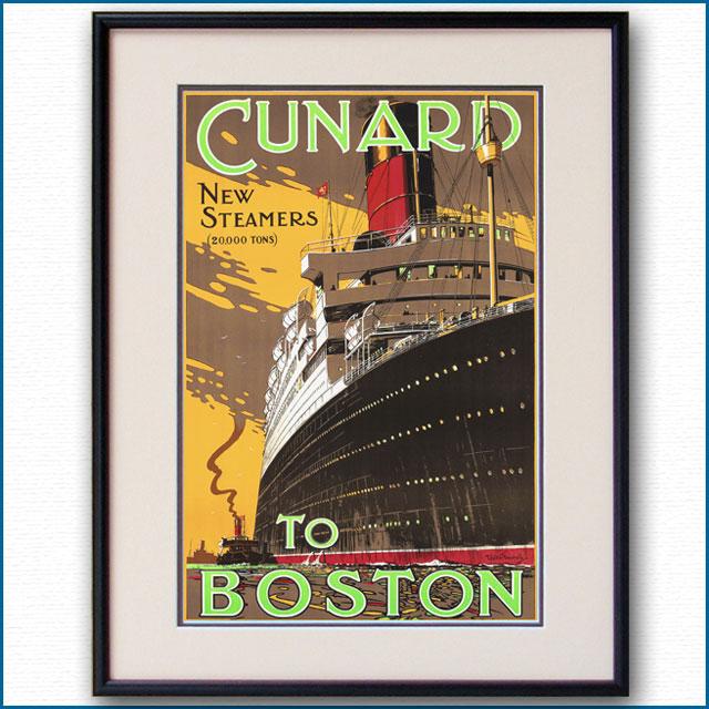 1925年 キュナード 客船ラコニアのポスター 3069LL