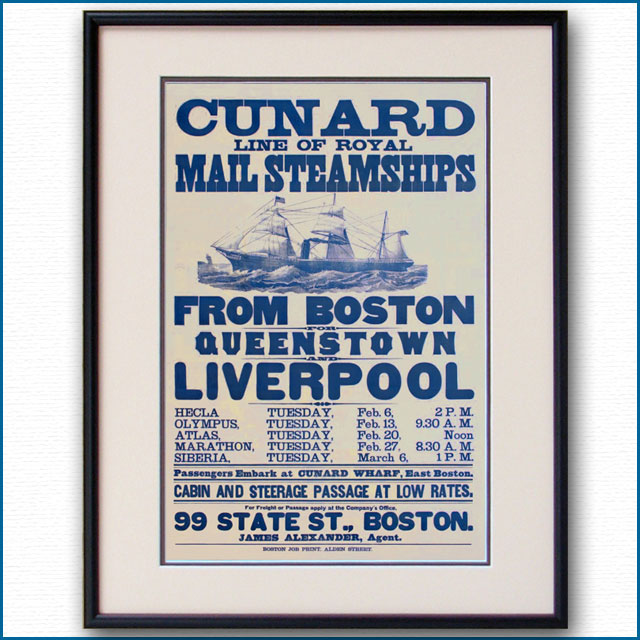 1877年 キュナードライン 3075LLのポスター