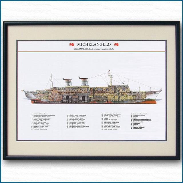 客船ミケランジェロの断面図 2704XL