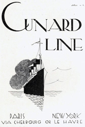 キュナードの客船アド CUNARD LINE:四方海話:ポスター販売・Ocean-Note