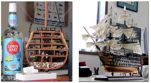 帆船ビクトリーとラム酒
