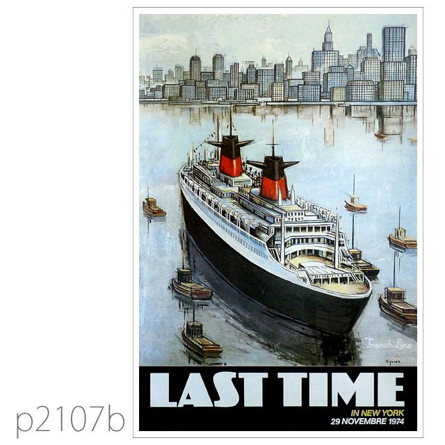 フレンチライン・客船フランスのポスター1982 ポストカード