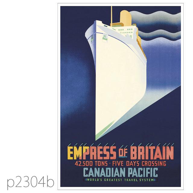 カナディアンパシフィック・客船エンプレス・オブ・ブリテンのポスター ポストカード
