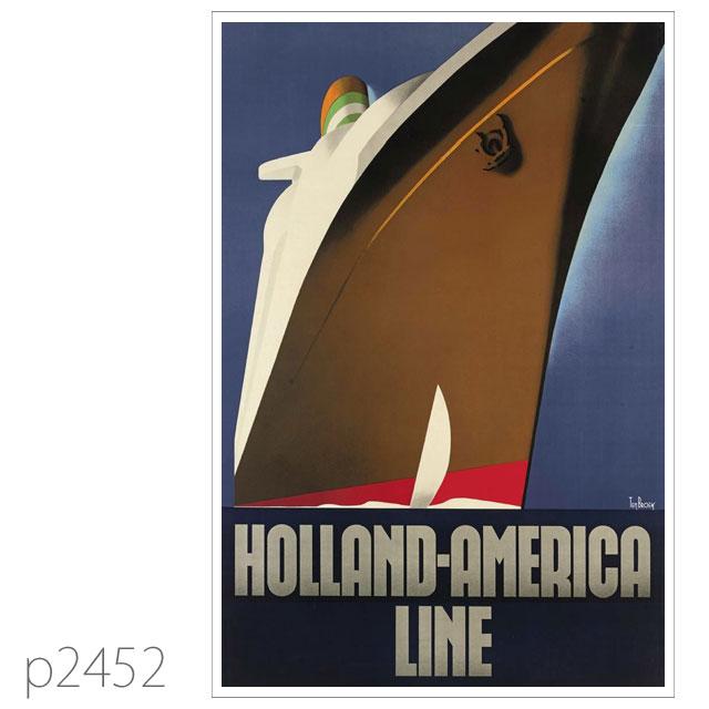 ホ-ランドアメリカライン・客船ニューアムステルダムのポスター ポストカード